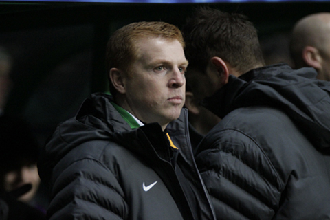 Neil Lennon and his players meet Martin Kane