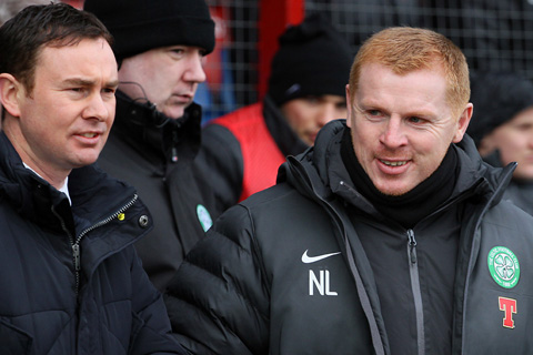Attack on Neil Lennon at Tynecastle.