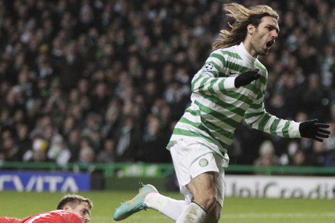 Celtic striker Georgios Samaras dedicates Greeces Euro 2012 progression to crisis-hit nation