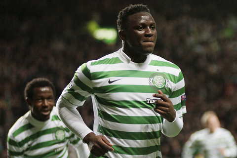 Celtic midfielder Victor Wanyama watched by Southampton