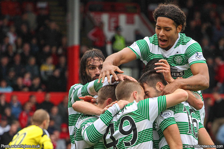 Virgil van Dijk happy to stay at Celtic despite interest from United and City