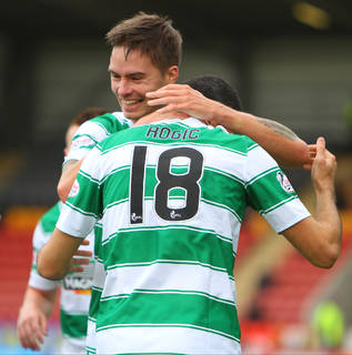 Mikael Lustig is eager to stay at Celtic, insisting 'I'm really happy here'