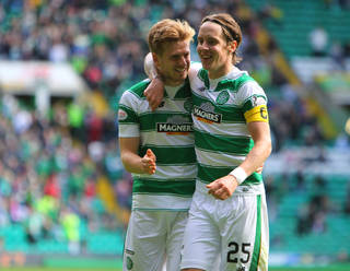 Stuart Armstrong with Stefan Johansen - Celtic News Now