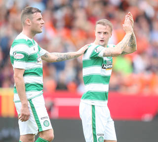 Anthony Stokes with Leigh Griffiths