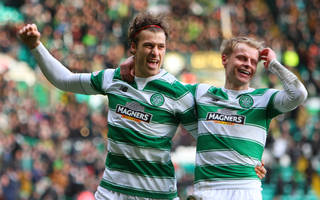 Gary Mackay-Steven with Erik Sviatchenko - Celtic News Now
