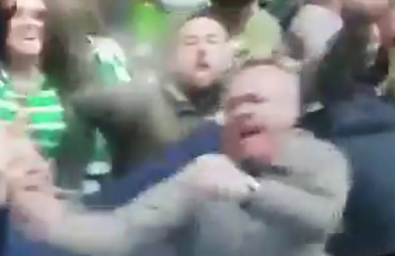Some Celtic Fans Think They Spotted John Higgins Going Mad at Ibrox on Sunday